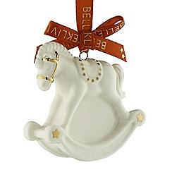 Belleek Living - Rocking horse mini ornament