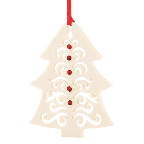 Belleek Living - White hanging Christmas tree ornament