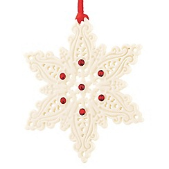 Belleek Living - White hanging Snowflake Christmas ornament