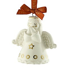 Belleek Living - Praying angel mini ornament