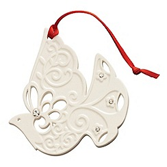 Belleek Living - Belleek Living Christmas Dove Hanging Ornament