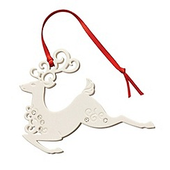 Belleek Living - Belleek Living Christmas Reindeer Hanging Ornament