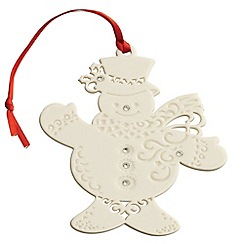 Belleek Living - Belleek Living Christmas Snowman with Gems ornament