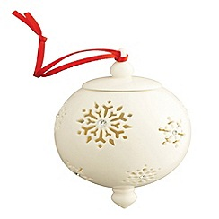 Belleek Living - Belleek Living Snowflake with Gems bauble
