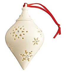 Belleek Living - Belleek Living Snowflake cone with Gems bauble