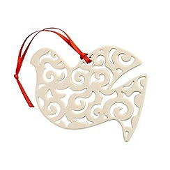 Belleek Living - Belleek Living Christmas Dove Swirl hanging Ornament