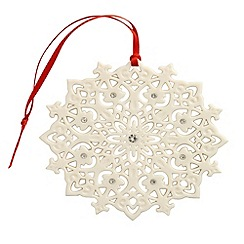 Belleek Living - Belleek Living Christmas Snowflake Design hanging Ornament