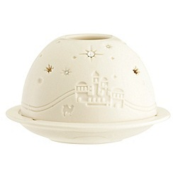 Belleek Living - White town of Bethlehem dome Christmas votive