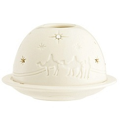 Belleek Living - White three kings dome Christmas votive