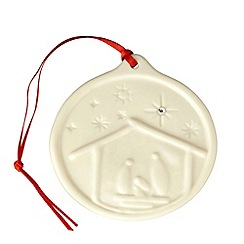 Belleek Living - Belleek Living Nativity Hanging Ornament