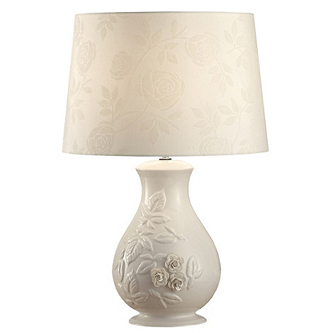 Belleek Living - Ivory +Rose+ Lamp