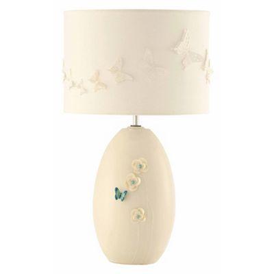 Belleek Living Butterfly Meadow lamp & shade - . -