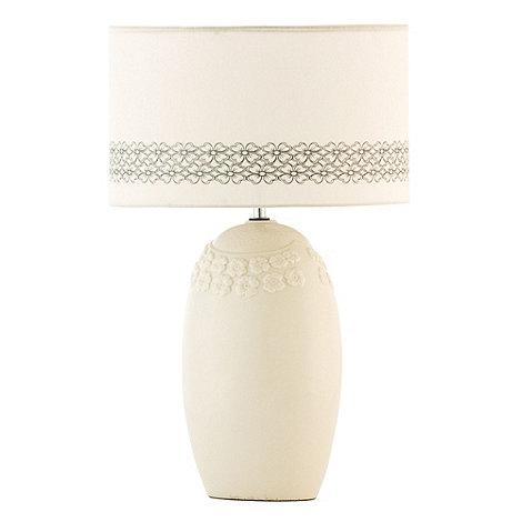 Belleek Living - Ivory Fleur 12inch Lamp