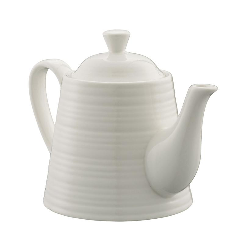 Belleek Living Ripple Tea for One, White