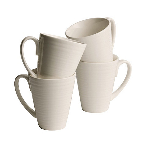 Belleek Living - Ripple set of four mugs