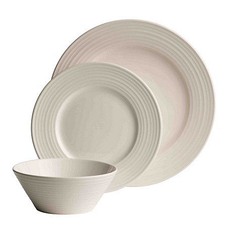 Belleek Living - Ripple 12 piece porcelain dinner set