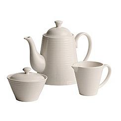 Belleek Living - Ripple three piece tea set