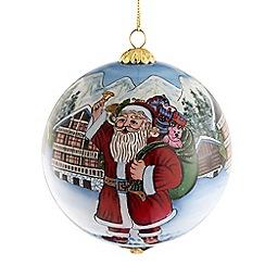 Belleek Living - Santa workshop glass bauble
