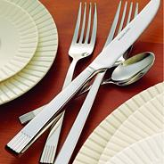 Silver 'Lines' 24 piece flatware set