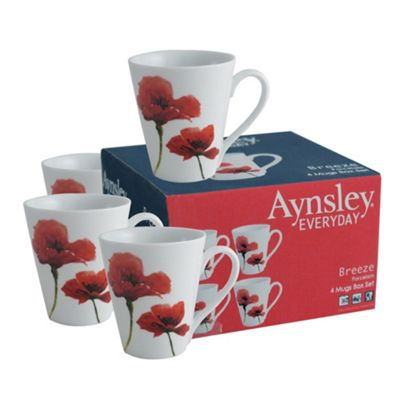 Aynsley China Aynsley Breeze 4 mug set. - . -