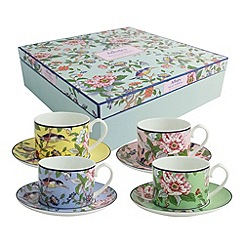 Aynsley China - Aynsley Pembroke 4 cups and saucers set.