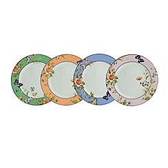 Aynsley China - Cottage Garden set of 4 mixed side plates