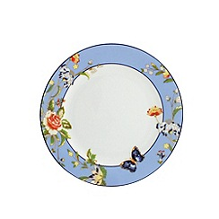 Aynsley China - Cottage Garden set of 4 blue side plates