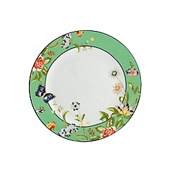 Aynsley China - Cottage Garden set of 4 green side plates