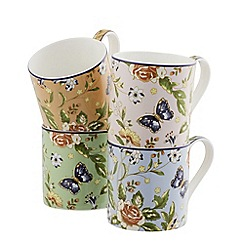 Aynsley China - Cottage Garden Windsor Set of 4 Mugs