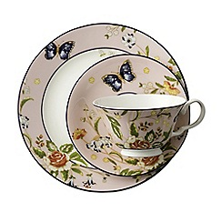 Aynsley China - Cottage Garden Windsor Teacup, Saucer and Plate Set - Pink