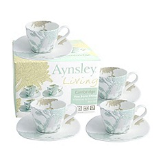 Aynsley China - Cambridge set of 4 teacups and saucers set
