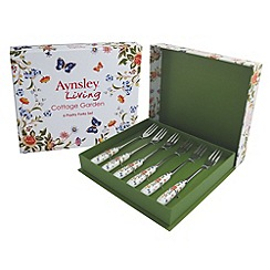 Aynsley China - Cottage garden set of six pastry forks