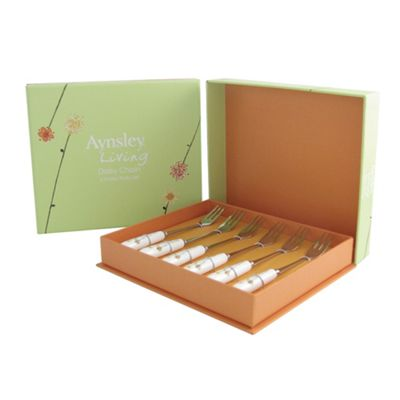 Aynsley China Daisychain set of six pastry forks - . -