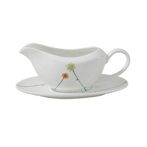 Belleek Living - White Daisy chain gravy boat and stand