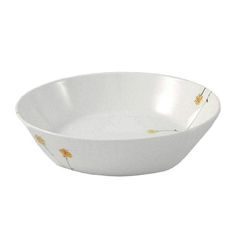 Aynsley China - White Daisychain pasta bowl