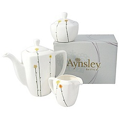 Aynsley China - White 'Daisychain' Beverage Set