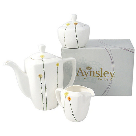 Aynsley China - White +Daisychain+ Beverage Set