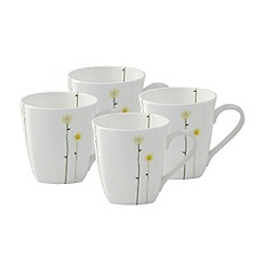 Belleek Living - White Daisychain set of four mugs