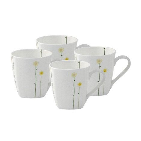Belleek Living - White Daisychain set of four mugs