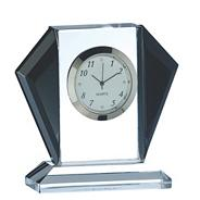 Black 'Deco' Mantle Clock