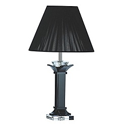 Galway Living - Black 'Deco' Medium Lamp