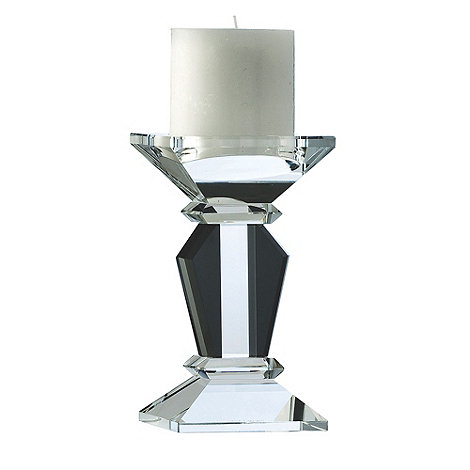 Galway Living - Black +Deco+ 7inch Candleholder
