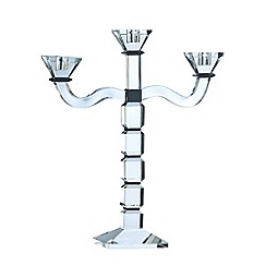Galway Living - Black 'Deco' Three Arm Candelabra