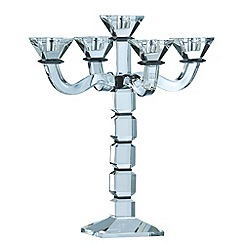 Galway Living - Black 'Deco' Five Arm Candelabra
