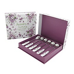 Aynsley China - English violets set of six teaspoons
