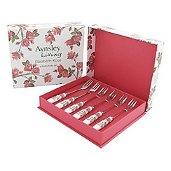 Aynsley China - English rose set of six pastry forks