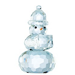 Galway Living - Crystal 'Gem' Snowman Christmas ornament 5.5inch