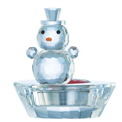 Galway Living - Crystal +Gem+ Snowman Christmas votive