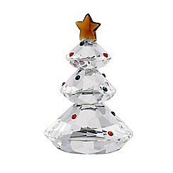 Galway Crystal - Gem small Christmas tree figurine