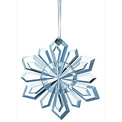 Galway Living - Crystal 'Hanging' Christmas Snowflake ornament